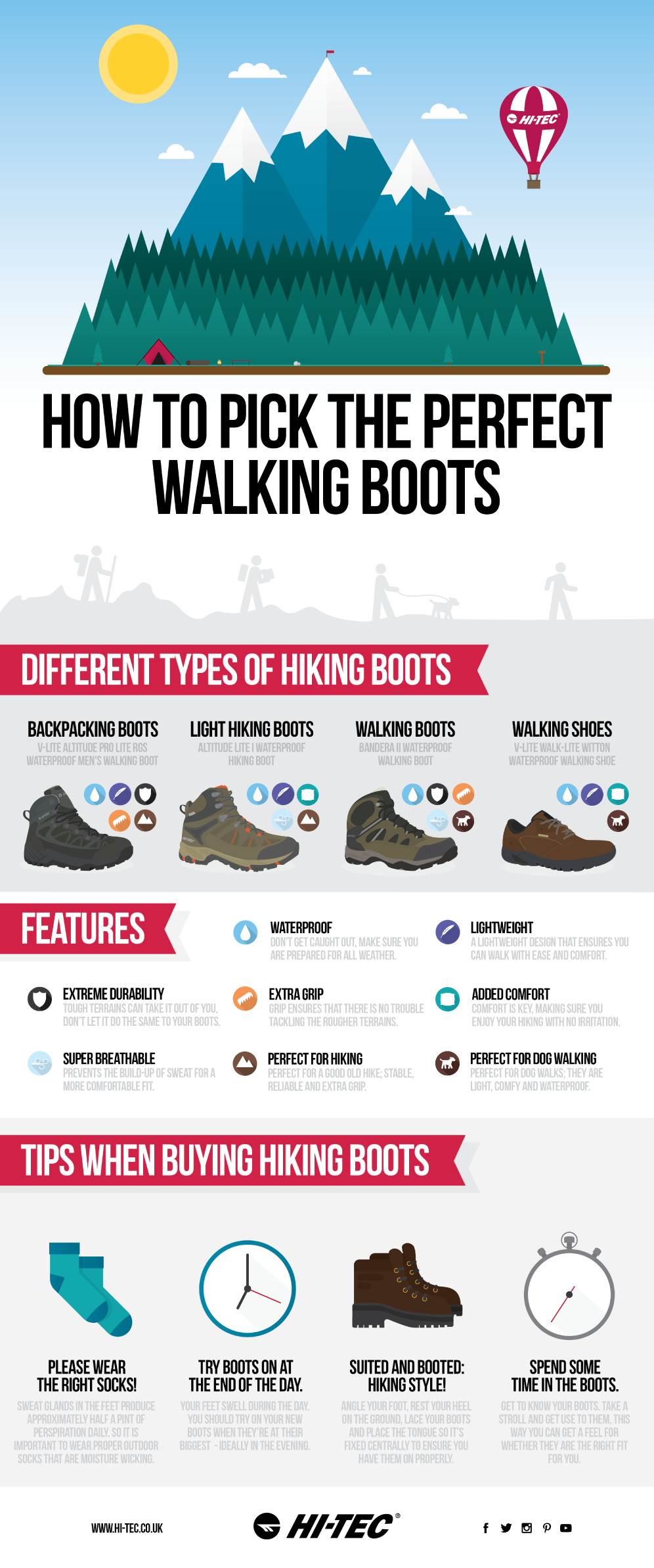 Hi-tec – How to pick the perfect walking boots