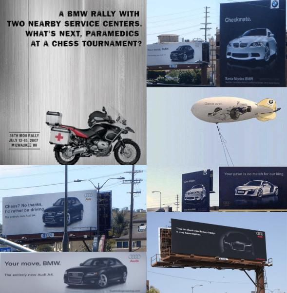 Audi and BMW's billboard battle