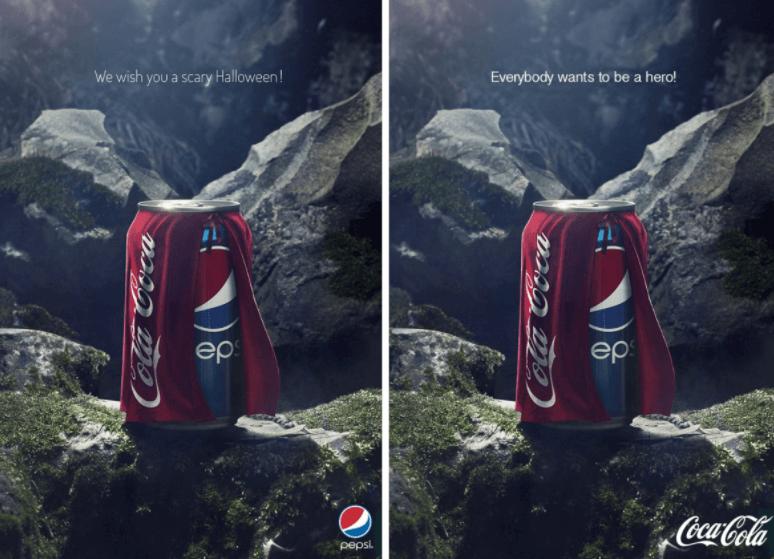 pepsi ad and coke's response