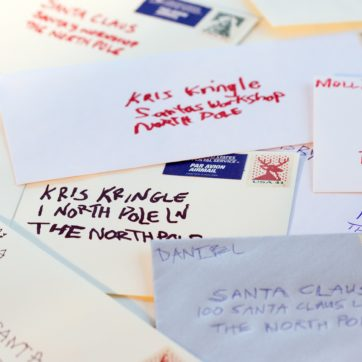 Email marketing inspired by letters to Santa