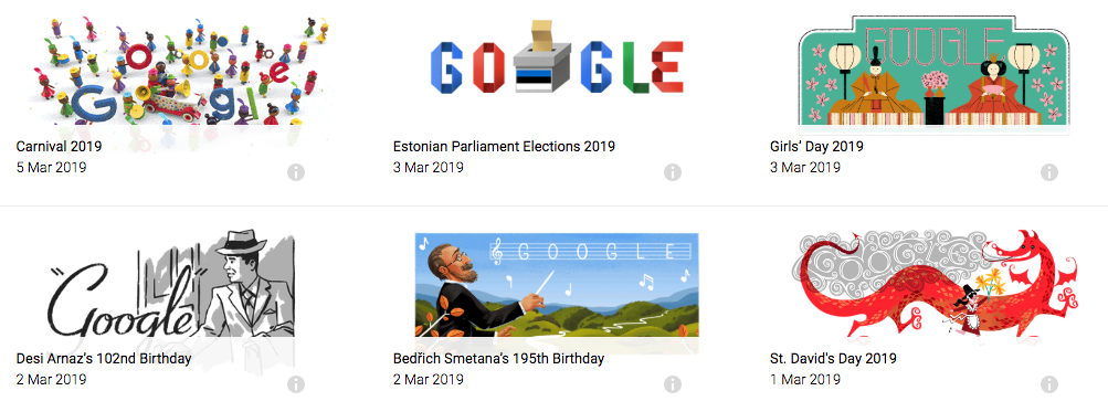 famous google doodles