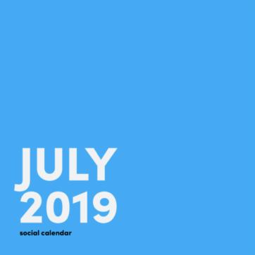 July social media holiday calendar