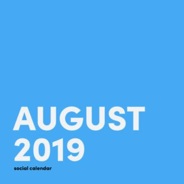 August 2019 social media holidays