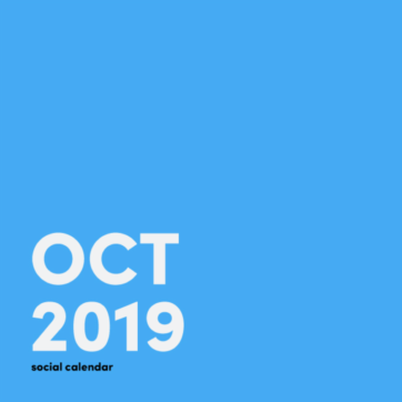 Social media holidays in October 2019
