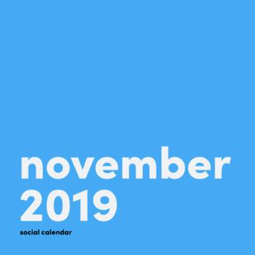 Social media holidays calendar: November 2019