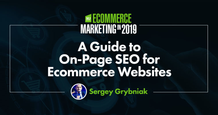 Title image: a guide to onpage seo for ecommerce websites