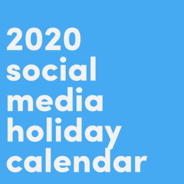 Social media holidays calendar 2020